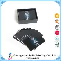 China Wholesale business playing cards printing best adverting playing card... on sale