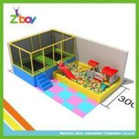 Rectangular Kids Indoor Trampoline Bed With Soft Play From Chinese Toy Capital
