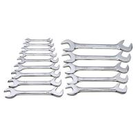 Double Open End Combination Wrench Set With Organizer Packaging