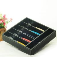 China hollow out bamboo cutlery tray wholesale