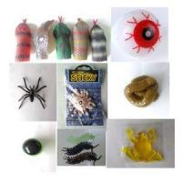 Halloween Plastic Sticky Insect Rat Toys