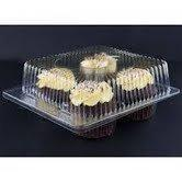 China Clear Jumbo Cupcake Muffin Container Boxes Holds 4 jumbo Cupcake muffins each - 11 boxes wholesale