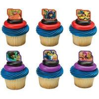 China Superhero Rings For Cupcakes. Pack of 24 assorted plastic rings.. Pack of 24 assorted plastic rings. wholesale