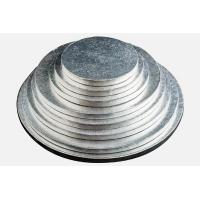 China round silver thick corrugated cake drums wholesale