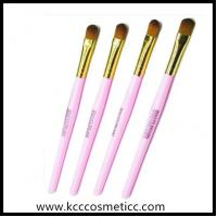 Buy cheap pink eyeshadow brush with long plastic handle from wholesalers