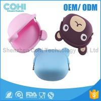 China Fashionable animal waterproof rubber silicon bear shaped coin purse wholesale