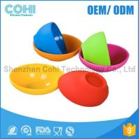 Round shaped silicone soup bowl