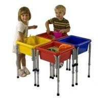 China 4 Station Square Sand & Water Play Table with Lids on sale
