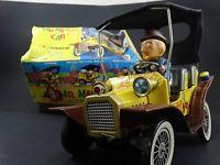 China 2 Vintage 1961 Hubley Mr Magoo Japan Tin Litho Battery Friction Car Toy Box Lot wholesale