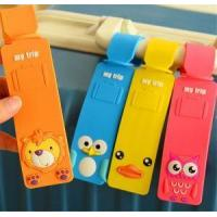 Buy cheap Hot Sale 4 Colors Cute Cartoon Design Luggage Tags Logo Custom Backpack Tags Waterproof Luggage Tags from wholesalers