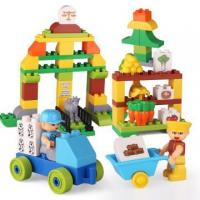 Buy cheap HappyFarm Bright Color Plastic Building Blocks Toys from wholesalers