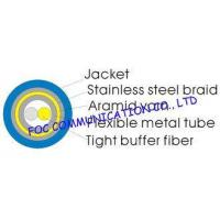 China Armored Optical Fiber Cable Duplex With Flexible Metal Tube and Braid For FTTX wholesale
