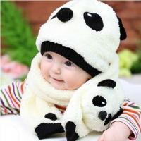 China 2016 Children's Baby Panda Hat (Cap+Scarf) wholesale