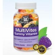 China MultiVites Gummy Vitamins Plus Hair Skin & Nails Support, 70 Gummies, Nutrition Now wholesale