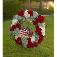 China Sympathy Flowers The FTD To Honor One's Country Wreath wholesale