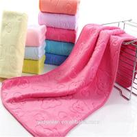 China Best selling products 2014 microfiber embossed bath towel design on sale