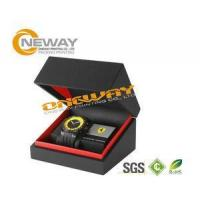 China Customized Men'S Style Watch Packaging Box With Hot Stamping Gold Logo wholesale