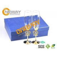 China Promotional Screen Printing Wine Glass Packing Box With Corrugated Board wholesale