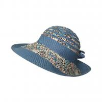 China lethmik Sun Hat Ladies Summer Wide Brim Hats Straw Floppy Beach Bucket Hats on sale