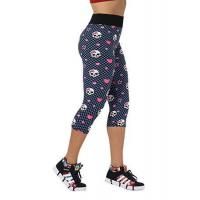 China Hot Sexy Women Fashion High Waist Skull Printed Workout Fitness Capri Leggings wholesale