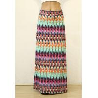 China Summer Multi-color Floral Print High Waist Beach Maxi Skirt Long Skirt wholesale