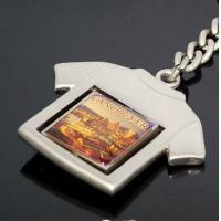 China T-shirt Shape Solid Alloy Rotatable Metal Key Chain Vancouver Souvenir Keychains SK-033 wholesale
