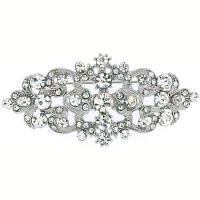China Swarovski Crystal & Antique Silver Victorian Brooch(Code:BR2680) wholesale