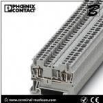China 2.5(4) mm2,28A,ST 2.5 3L spring cage connection three level terminal block for Phoenix wholesale