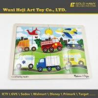 China Handmade Cheap Wooden Toys Babies Truck Jigsaw Wood Puzzles on sale