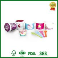 Eco Friendly Takeaway Paper Container with Lid for Ice Cream Packing