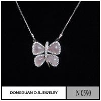 China N590 Fashion Cycle Butterfly Shape Natural Stone Necklace wholesale