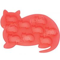China RENJIA cat ice cube tray cat shape silicone ice tray silicone ice cube tray cat shape wholesale