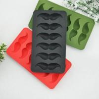 RENJIA creative silicone mustache ice mold colorful silicone ice tray cute design ice cube tray