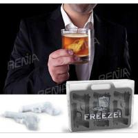 China RENJIA gun ice cube tray gun shape silicone ice trays silicone gun shape ice cube tray wholesale