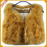 Yellow waist vest, China feather made