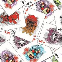 China 3D Cubic Printing Or Water Transfer Printing Hydrographic Poker Skull FILM on sale