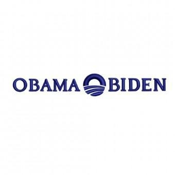 Quality Barack Obama Joe Biden 2012 Election Symbol Embroidery Design for sale