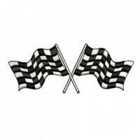 China Checkered Flags Embroidery Design wholesale