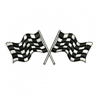 Quality Checkered Flags Embroidery Design for sale
