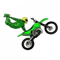 China Extreme Motocross Racing Car Embroidery Design wholesale