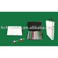 China 1000 PC Poker Chip Set In Strolly Aluminum Case wholesale