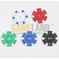 China Dice Poker Chip, With 1 c Value Imprint on sale