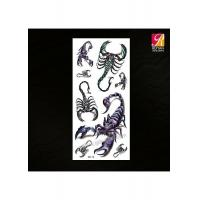 China Scorpion Tattoo Color Temporary Sticker 3D-14 on sale