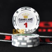 China 14g Two-Tone Stripe Clay Composite Poker Chips wholesale