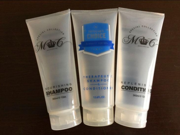 China Hotel Amenities Toiletries, Tubes for Filling with Shampoo