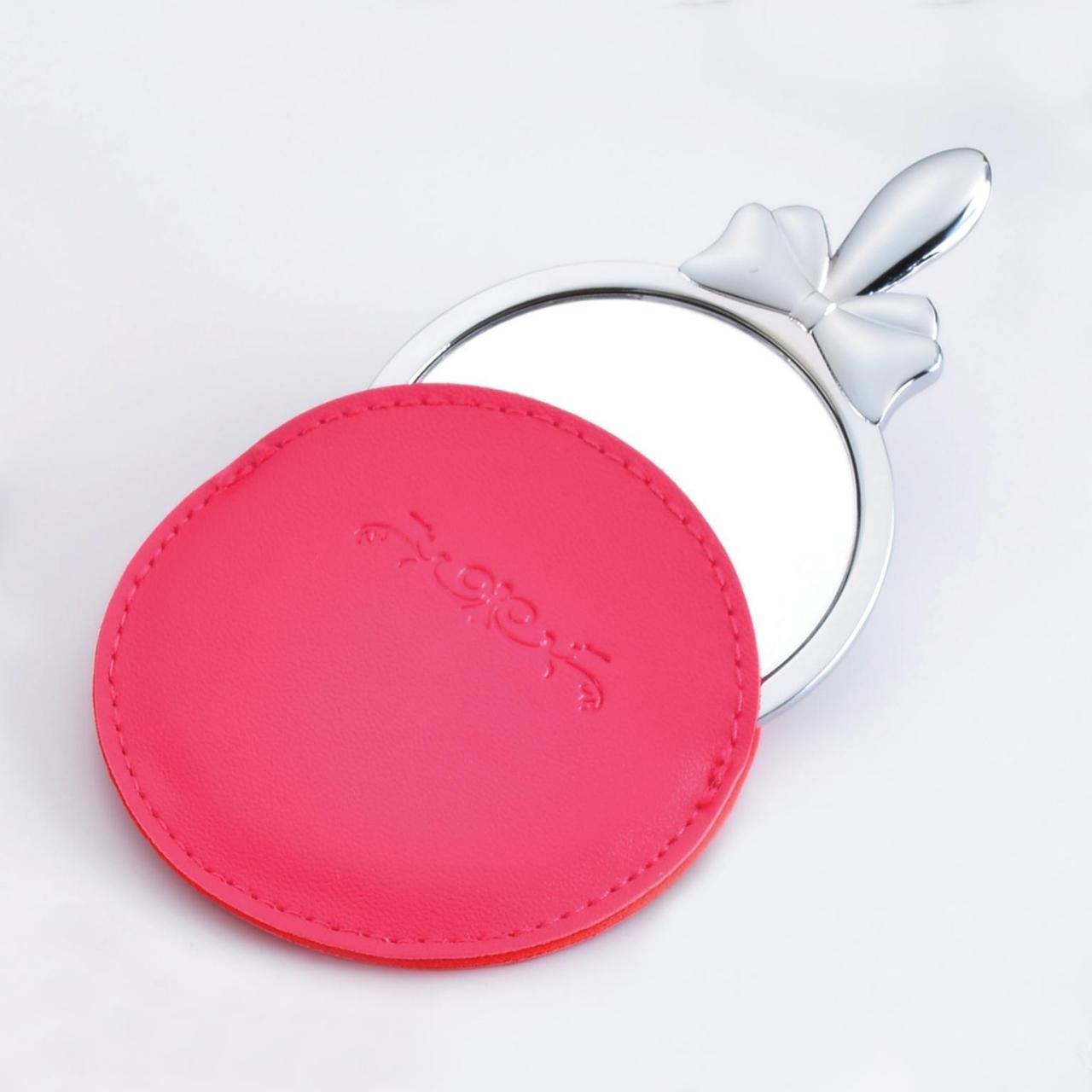 China Cosmetic Mirror with leather case wholesale