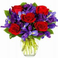 China Winter Ruby Rose Bouquet NO.104 shenzhen flower delivery wholesale