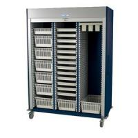 Preconfigured Triple Column Medical Storage Cart with Tambour Door #MS8160-CYSTO