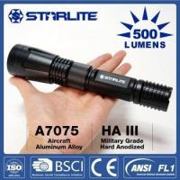 STARLITE 2.3W irradition distance 270m rechargeable new patent flashlight