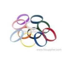 China stock colors silicone wristbands wholesale